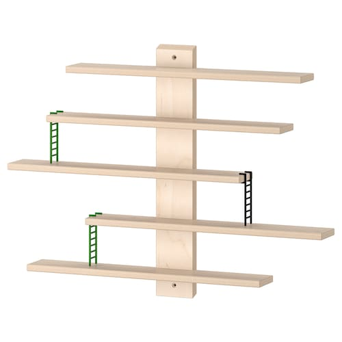 """LUSTIGT wall shelf 14 5/8 """" 2 3/8 """" 14 5/8 """" 1 lb 4 lb"""