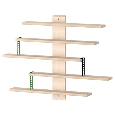"LUSTIGT wall shelf 14 5/8 "" 2 3/8 "" 14 5/8 "" 1 lb 4 lb"
