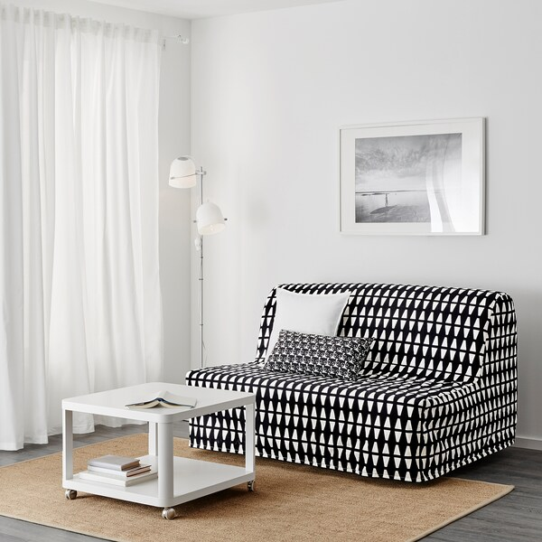 LYCKSELE LÖVÅS Sleeper sofa, Ebbarp black/white