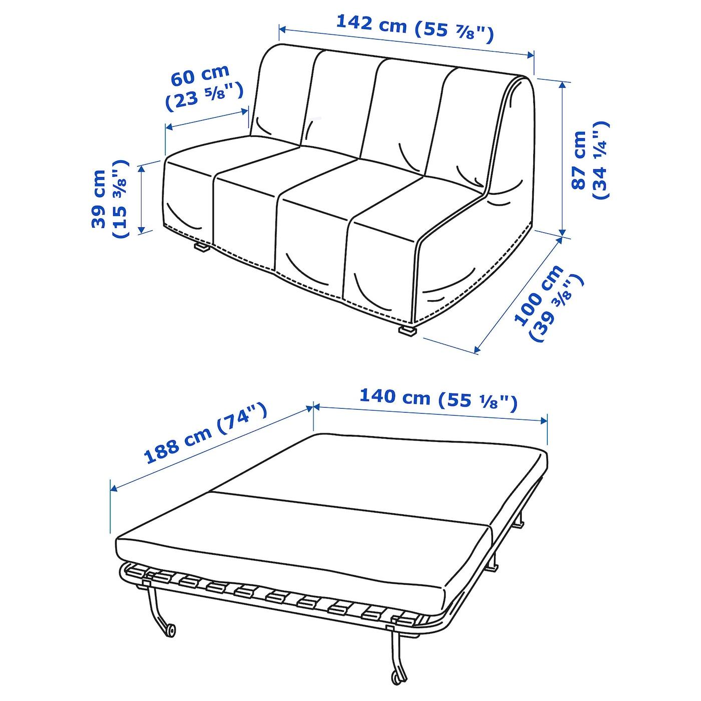 Lycksele Lovas Sleeper Sofa Ransta White Ikea