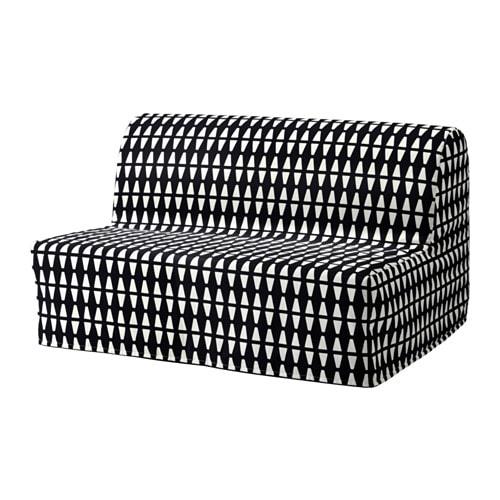 LYCKSELE LÖVÅS Sleeper sofa, Ebbarp black/white Ebbarp black/white -