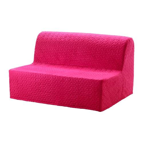 LYCKSELE LÖVÅS Sleeper sofa - Vallarum cerise - IKEA