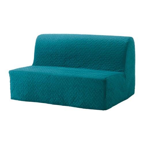 Lycksele l v s sofa bed vallarum turquoise ikea - Turquoise sofa ...
