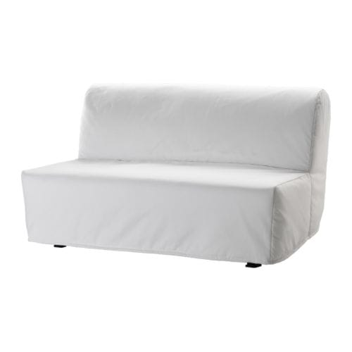 Lycksele l v s sofa bed ransta white ikea for Housse clic clac ikea