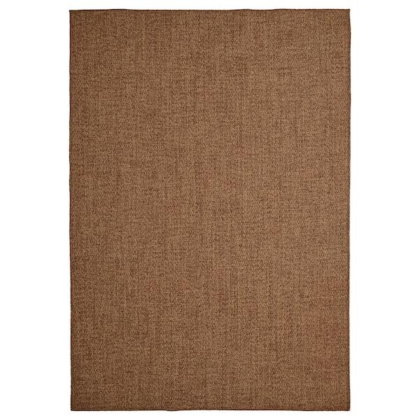 """LYDERSHOLM Rug flatwoven, in/outdoor, medium brown, 5 ' 3 """"x7 ' 7 """""""