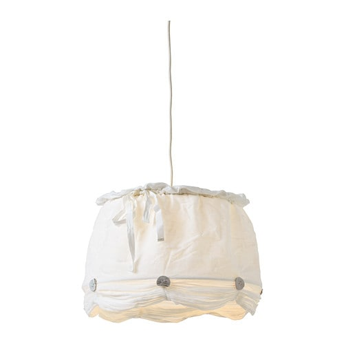 LYRIK Shade IKEA Fabric shade gives a diffused and decorative light.
