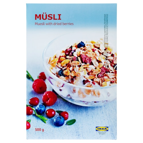 MÜSLI muesli with berries 1 lb 2 oz