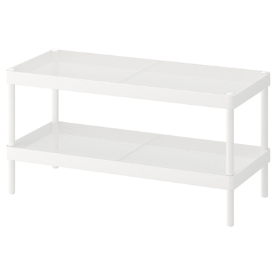 MACKAPÄR Shoe rack, white, 30 3/4 ""
