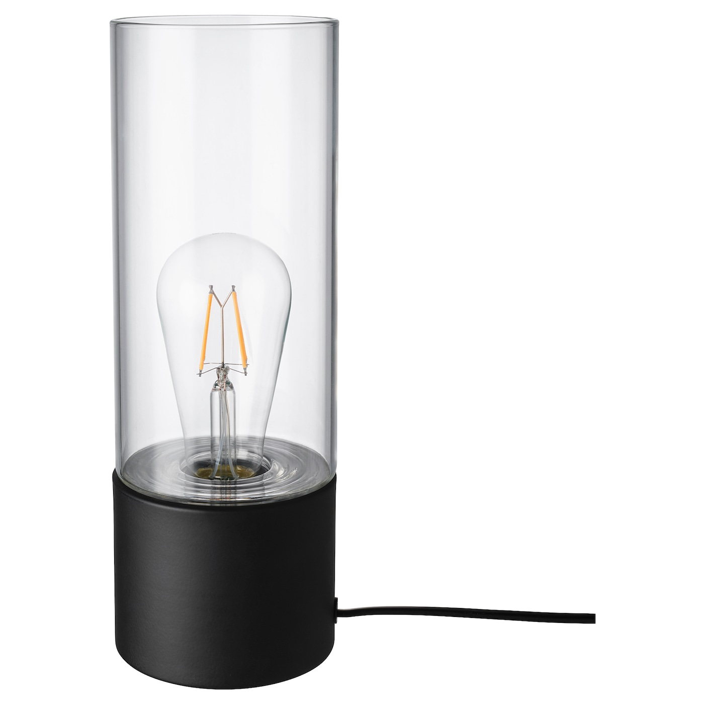 Picture of: Mackebo Table Lamp Black Clear Glass 11 Ikea