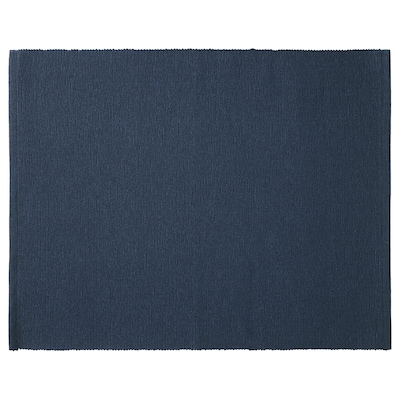 MÄRIT Place mat, dark blue, 13 ¾x17 ¾ ""