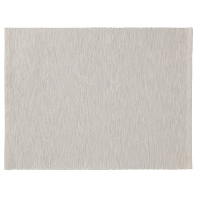 MÄRIT Place mat, gray-beige, 14x18 ""