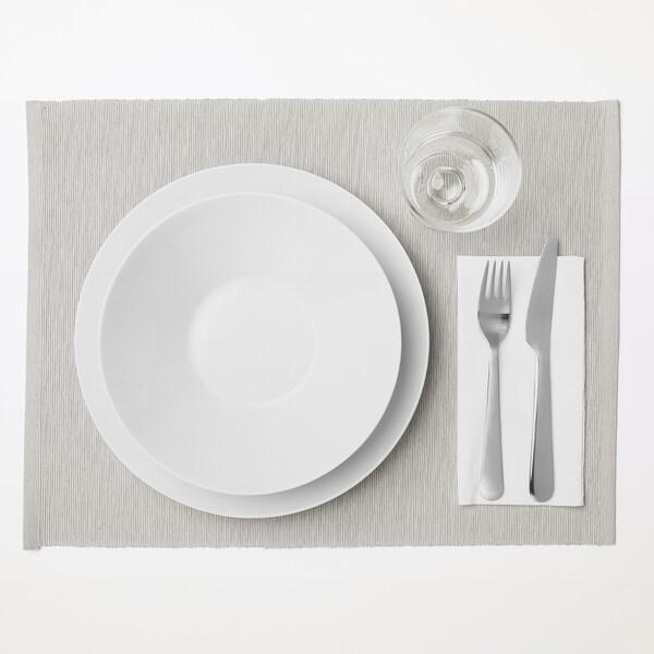"MÄRIT Place mat, gray-beige, 14x18 """