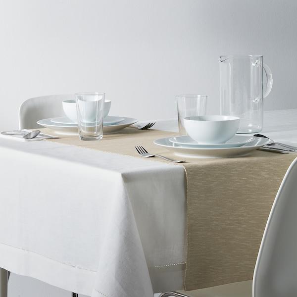 "MÄRIT Table runner, beige, 14x51 """