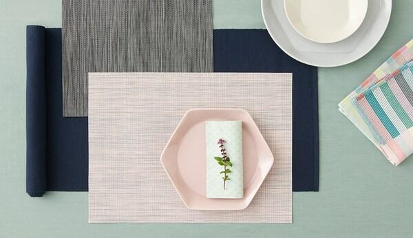 """MÄRIT Table runner, dark blue, 14x51 """""""