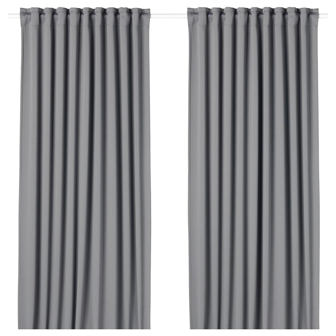 Majgull Blackout Curtains 1 Pair Gray