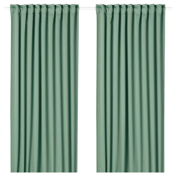 IKEA MAJGULL Blackout curtains, 1 pair