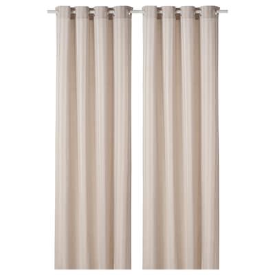 "MAJRID Curtains, 1 pair, beige, 57x98 """