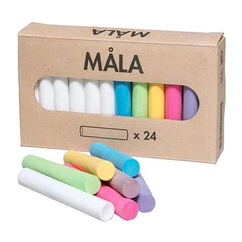 MÅLA Chalk , assorted colors Length: 3 3/8