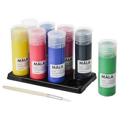 MÅLA Paint, mixed colors, 14 oz