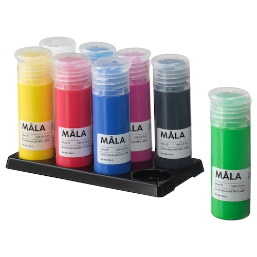 MÅLA paint mixed colors 14 oz 8 pack