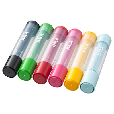MÅLA stamp pen mixed colors 6 pack