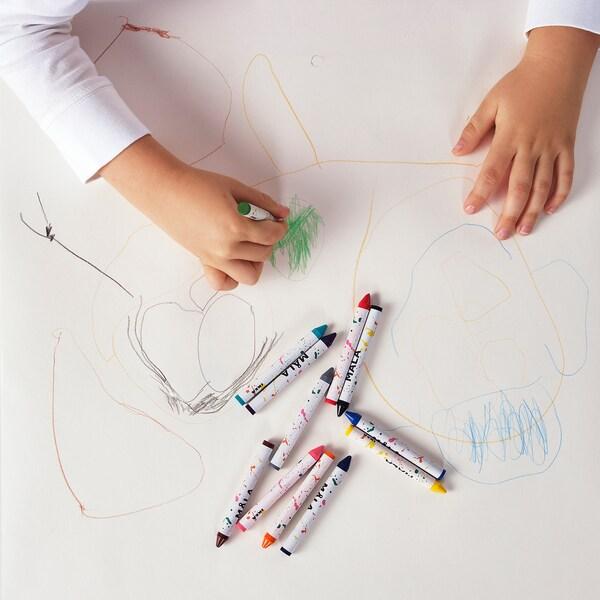 MÅLA Wax crayon, mixed colors