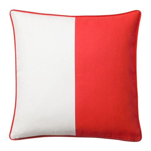 MALINMARIA - Cushion cover, red, white