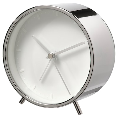 "MALLHOPPA Alarm clock, silver color, 4 ¼ """