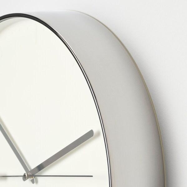"MALLHOPPA Wall clock, silver color, 13 ¾ """