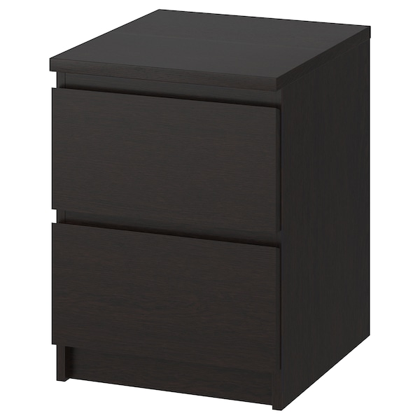 MALM 2-drawer chest, black-brown, 15 3/4x21 5/8 ""