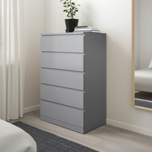 Malm 6 Drawer Dresser Gray Stained 31