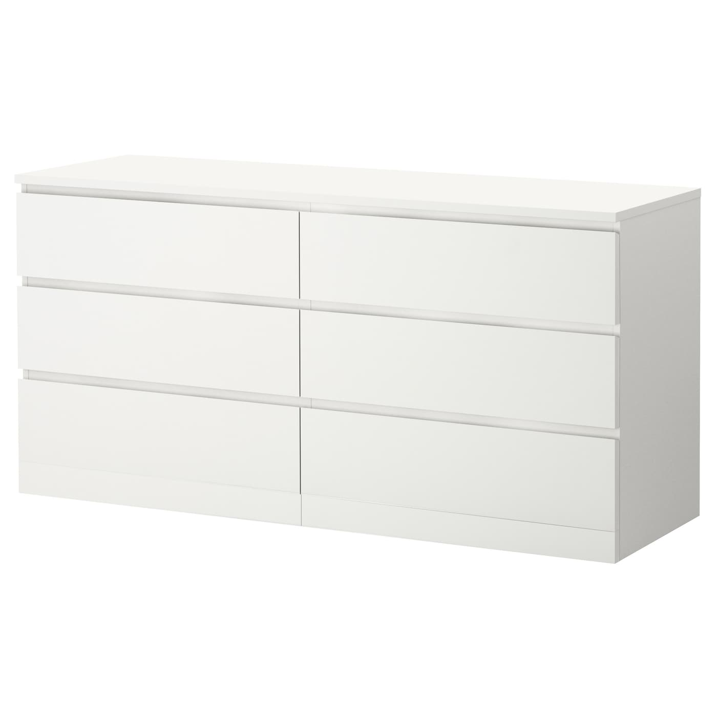 MALM 3-drawer dresser - white 33x3 3/3 ""