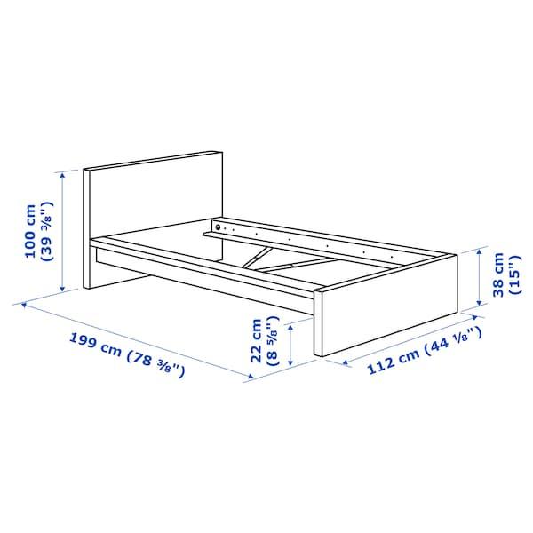 Malm Bed Frame High Black Brown Luroy Twin Ikea