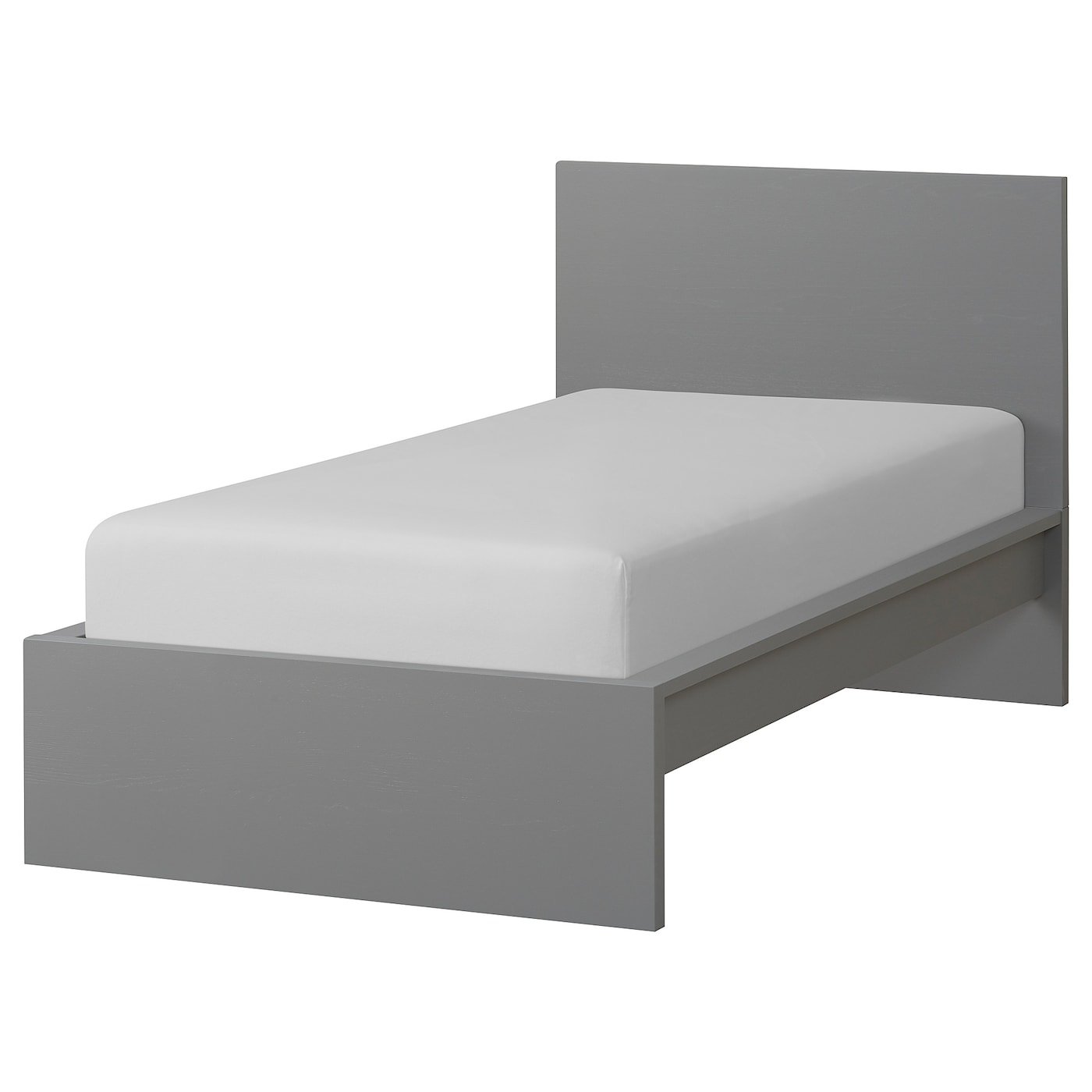 Malm Bed Frame High Gray Stained Luroy Twin Ikea