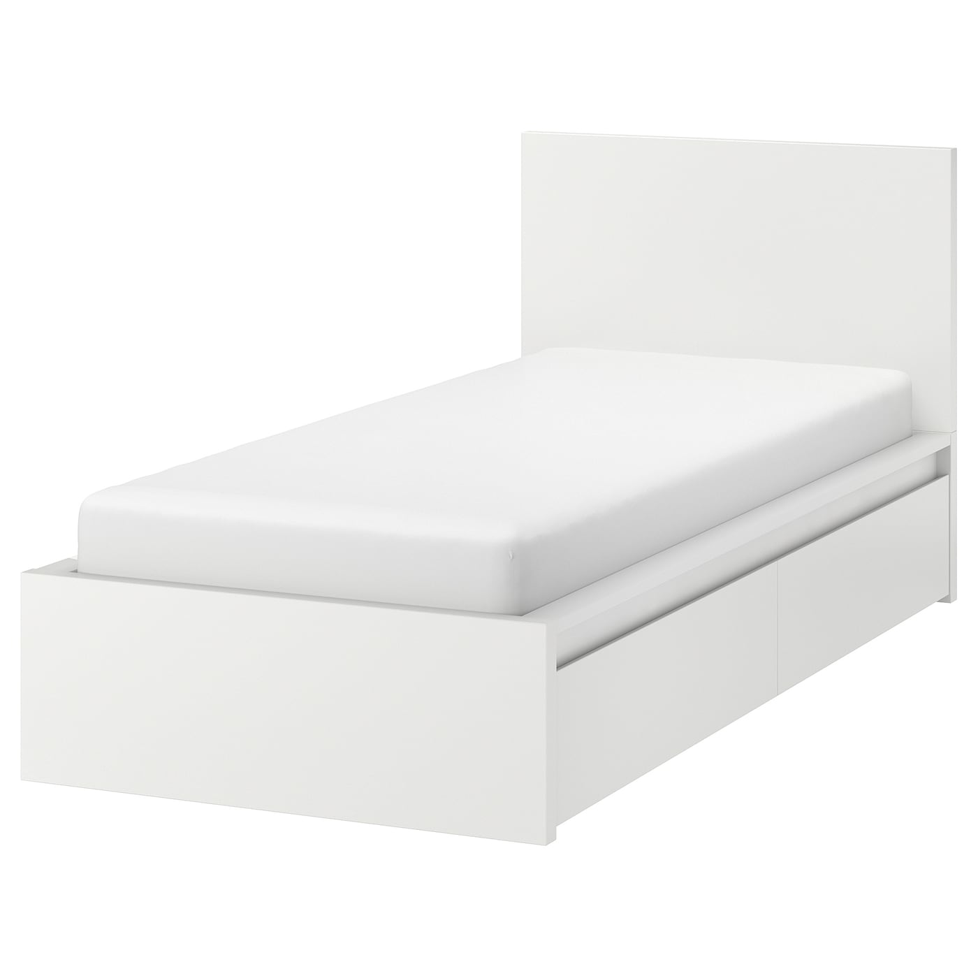 Malm High Bed Frame 2 Storage Bo