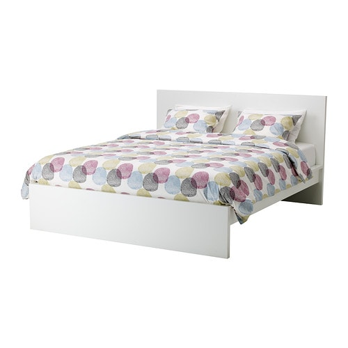 malm bed frame high queen ikea - White Ikea Bed Frame