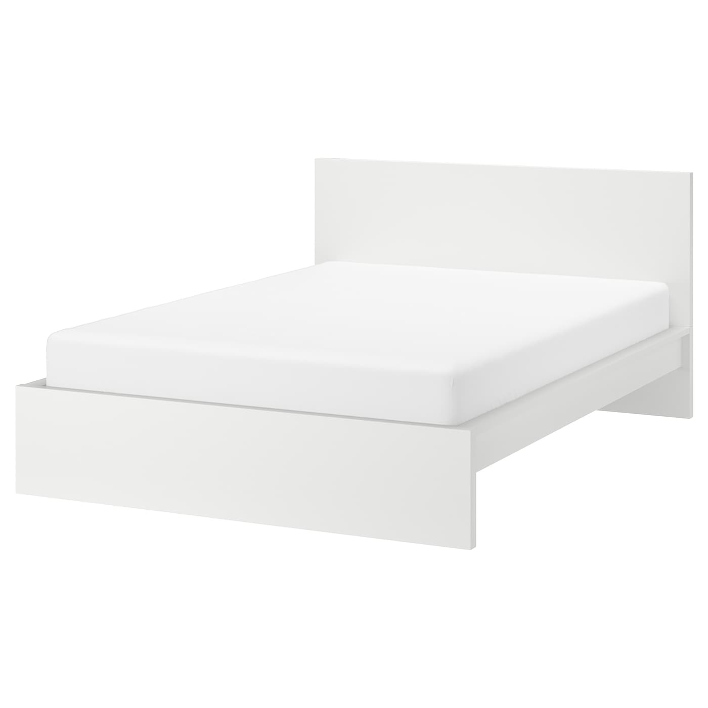 Picture of: Malm Bed Frame High White Queen Ikea