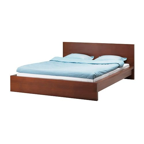 Ikea Malm Queen Platform Bed ~ MALM Bed frame IKEA Real wood veneer will make this bed age gracefully