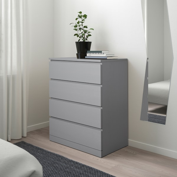Malm 4 Drawer Chest Gray Stained 31 1