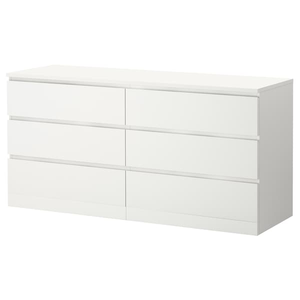 Malm 6 Drawer Dresser White 63x30 3 4 Ikea