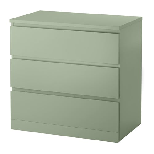Malm 3 Drawer Chest