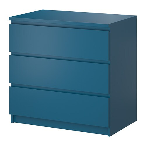 malm 3 drawer chest turquoise 31 5 8x30 3 4 ikea. Black Bedroom Furniture Sets. Home Design Ideas