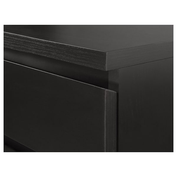 MALM Drawer unit on casters, black-brown, 16 1/2x23 1/4 ""