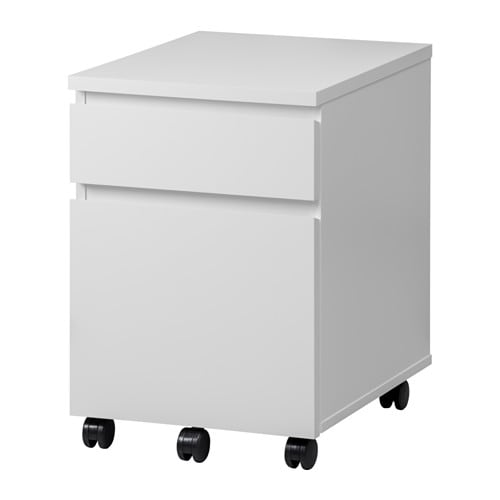 malm drawer unit on casters white ikea. Black Bedroom Furniture Sets. Home Design Ideas
