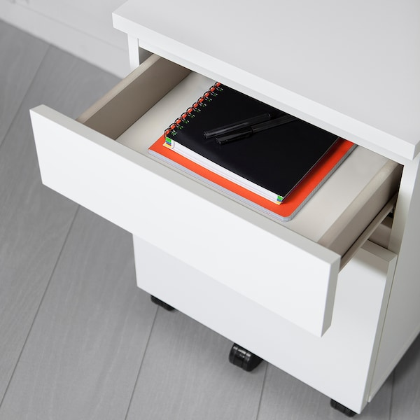 """MALM drawer unit on casters white 16 1/2 """" 20 1/8 """" 23 1/4 """""""