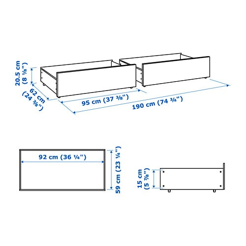 MALM Underbed storage box for high bed IKEA MALM bed storage boxes work perfectly with MALM bed frame.