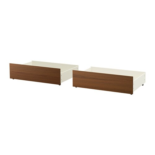 MALM Underbed storage box for high bed, brown stained ash veneer brown stained ash veneer Full/Double/Twin/Single