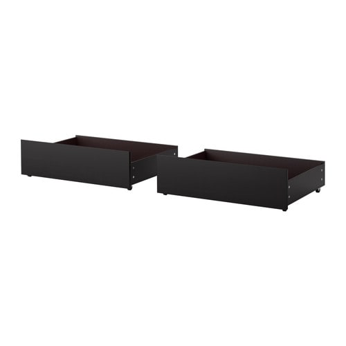 Malm Underbed Storage Box For High Bed Black Brown
