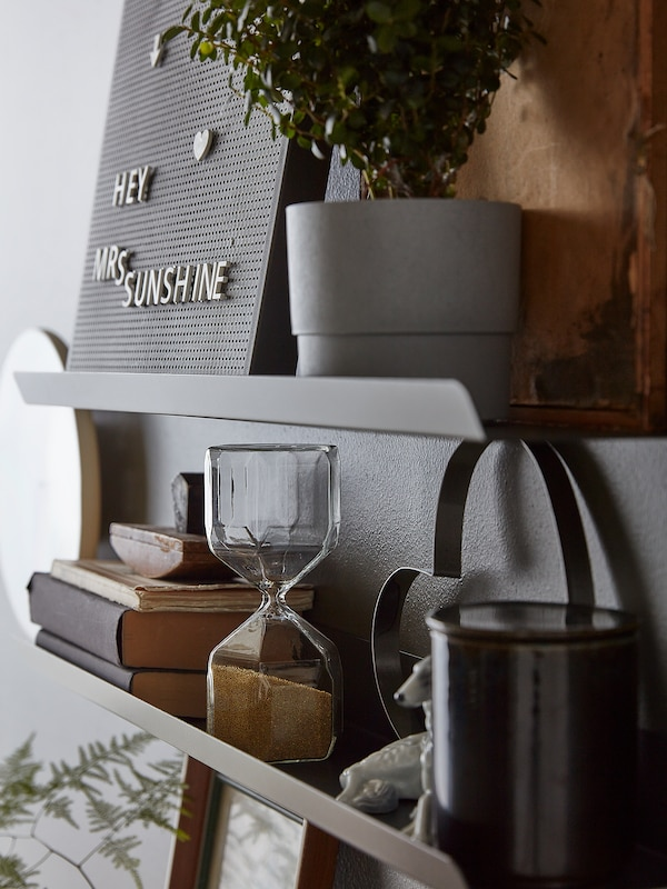 """MALMBÄCK Display shelf, dark gray, 23 5/8 """""""