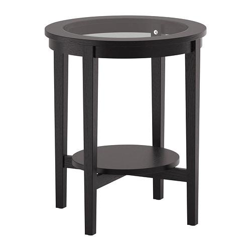 MALMSTA Side table, black-brown black-brown 21 1/4